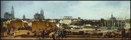 Schilderij na Delftse Donderslag in 1654, nu locatie van de Paardenmarkt.