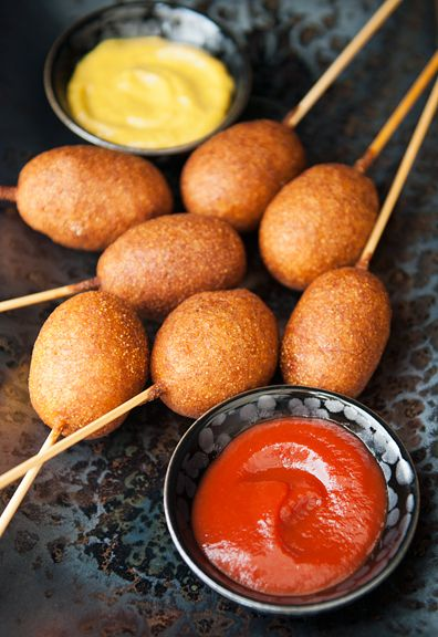 use real butter   mini beer corn dogs recipe ~ beer battered corn dogs?? umm yes, craving these now.