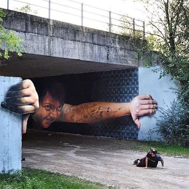 Enfin, je vois le bout du tunnel... ! / Street art. / By Adamir Sefwick.