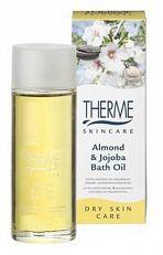 Therme Badolie Almond and Jojoba 100ml  THERME Almond & Jojoba Bath Oil voor de zeer droge en gevoelige huid wordt direct door de huid opgenomen en heeft een intensief voedende hydraterende en verzachtende werking dankzij het toegevoegde vitamine A E F H-Complex.  EUR 7.27  Meer informatie  #drogist