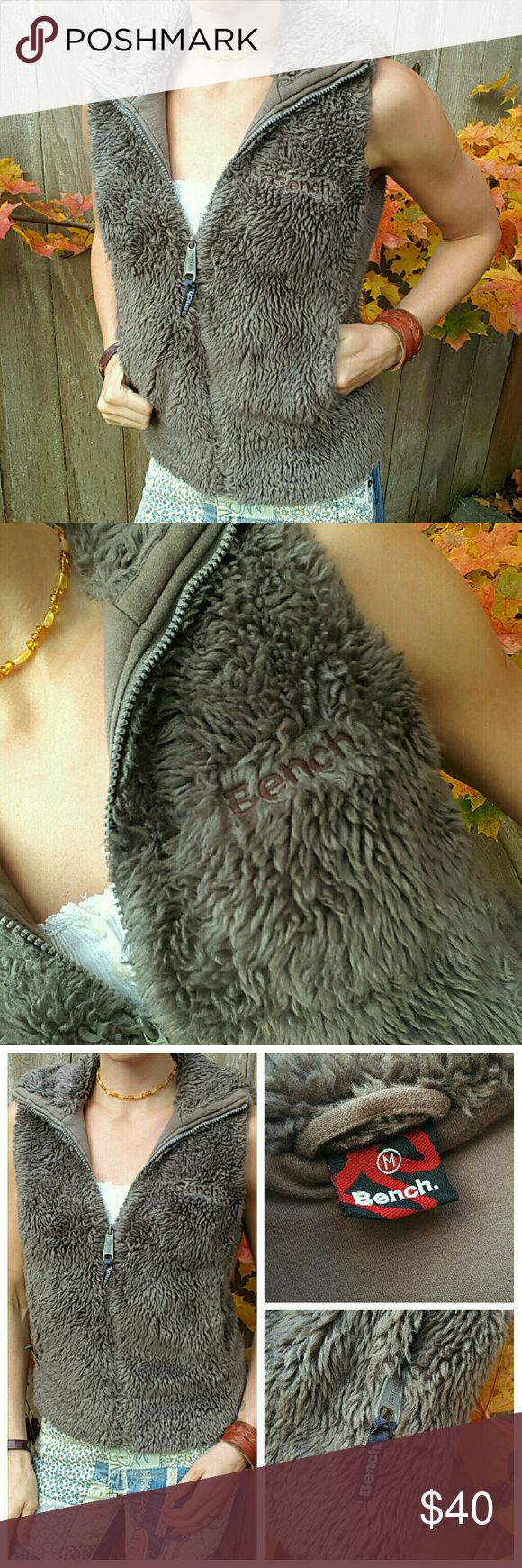 BENCH fuzzy vest Super cozy and warm! Zip pockets! Bench Jackets & Coats Vests