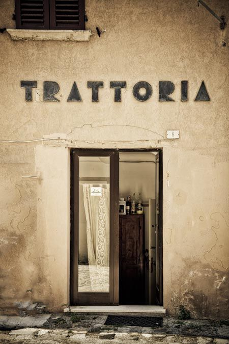 Lovely old trattoria in Novafeltria, Romagna, Italy. Image by Alessandro Guerani.