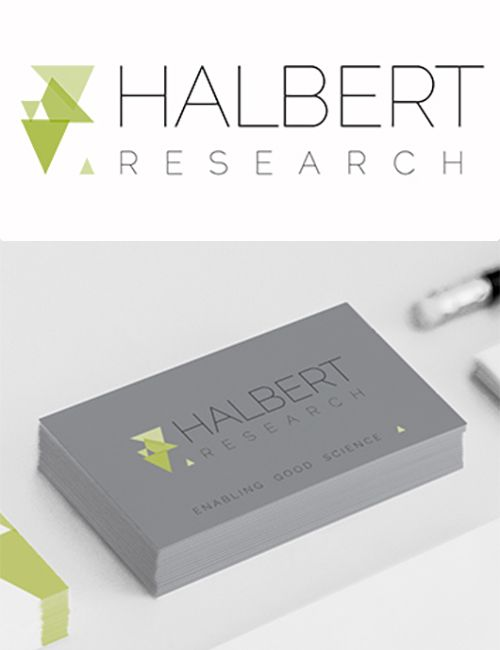 Logo design for Halbert Research  www.akgraphics.ie