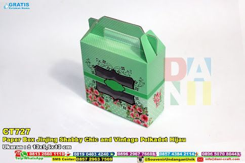 Paper Box Jinjing Shabby Chic And Vintage Polkadot Hijau Hub: 0895-2604-5767 (Telp/WA)paper box, paper box jingjing, paper box sabby, paper box chic, paper box, vintage, paper box hijau, paper box polkadot #paperboxchic #paperboxjingjing #paperboxhijau #paperbox #paperboxsabby #vintage #paperboxpolkadot #souvenir #souvenirPernikahan