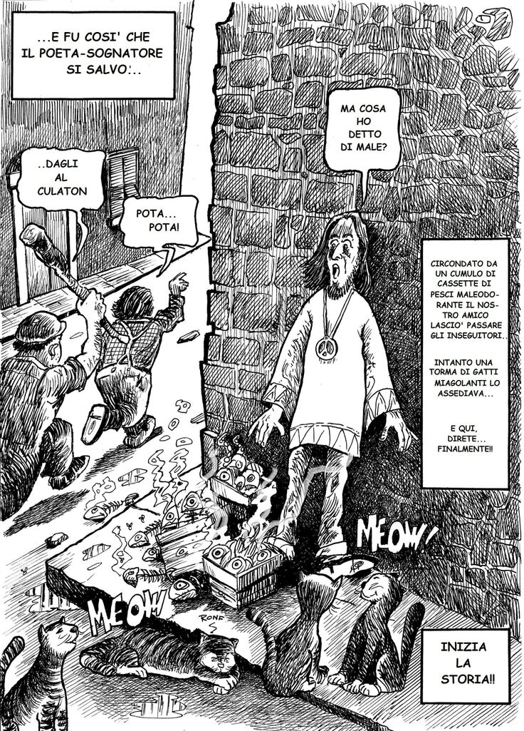 """tavola da """"Pesicade"""" graphic novel da una storia di Gianfranco Andorno - Edizioni Liberodiscrivere"""