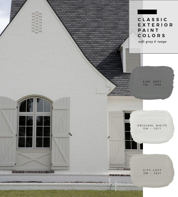 Brick Home Exterior Color Schemes: Exterior Paint Color Combinations