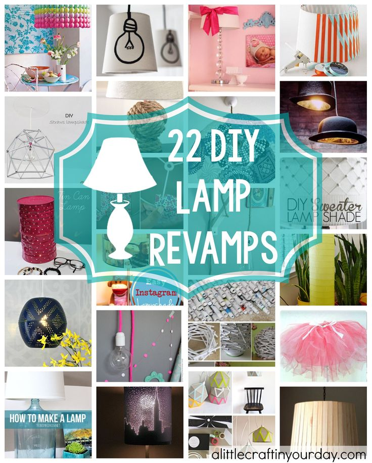 22 DIY Lamp Revamps | A Little Craft In Your Day