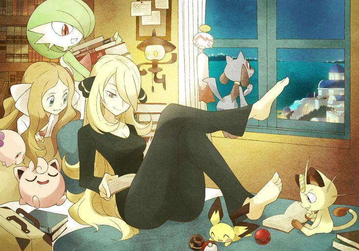 Who probably has nicer feet? Zinnia or Cynthia? - Pokemon