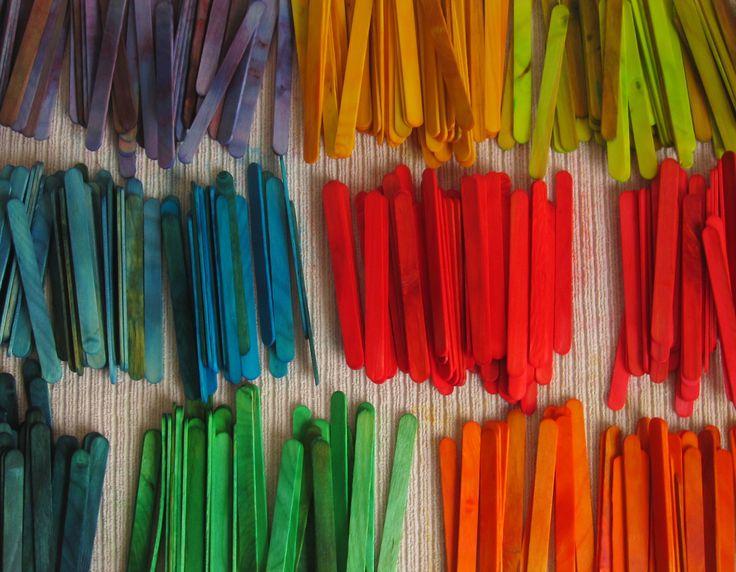 DIY colored craft sticks                                                                                                                                                                                 More
