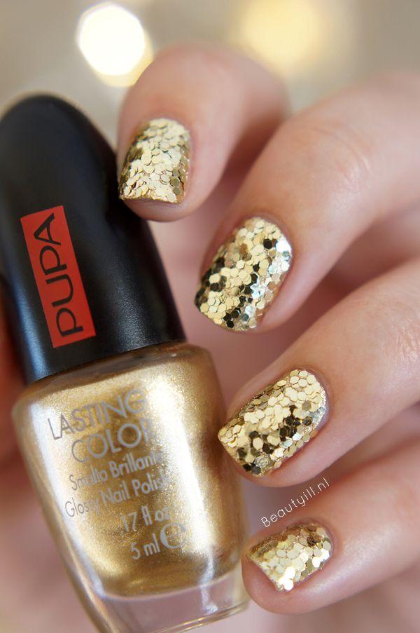 DIY Nail Art | PUPA Party Queen Nailart kit, Gold Paillettes ~ Beautyill | Beautyblog met nail art, nagellak, make-up reviews en meer!