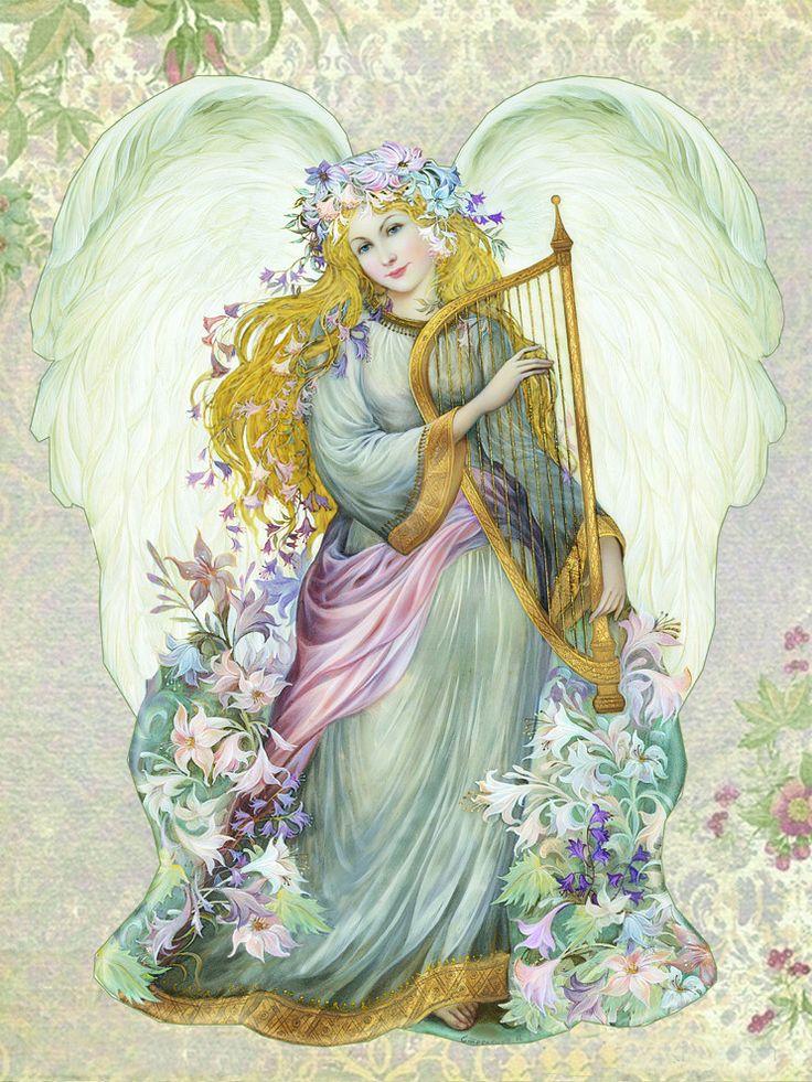 Стрелкина Надежда Ангел с арфой | Картинки ангелов ...