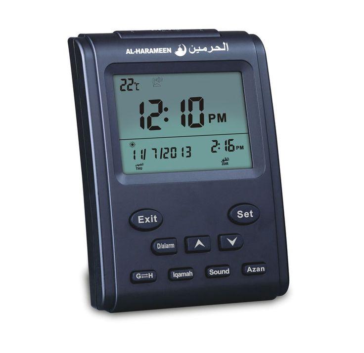 16.96$  Buy now - Automatic Islamic Product 3011 Desk Clock Cities Azan Time /hijri/fajr Alarm Led Scran With Backlight muslim clock  #bestbuy