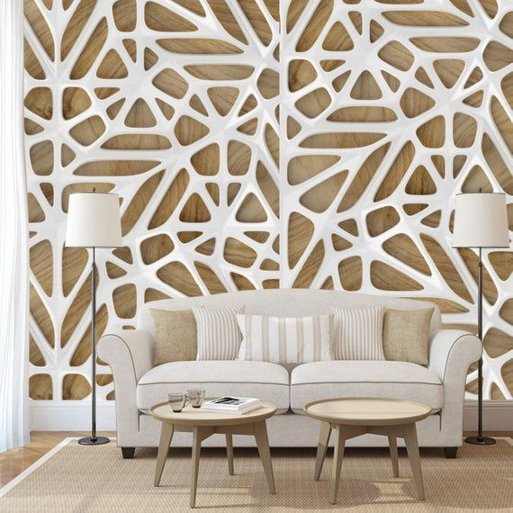 3d Wallpaper With White Lattice On Vintage Oak Wood Wall Covering Wall Mural Wall Decor 3d Wallpaper White 3d Wallpaper Textured Walls