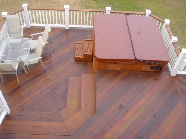 Love This Deck Design Backyard Deck Pinterest