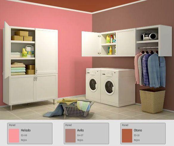 Pinta el cuarto de lavado con tus mejores colores y llena for Gama de colores para interiores