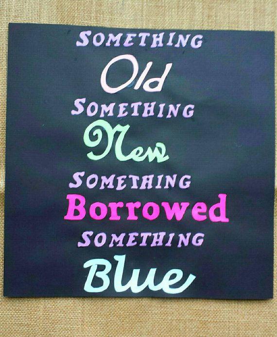 Something Blue Bridal Shower Sign / Bridal by BootsAndDirtRoads