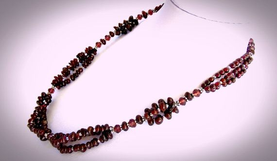 Hey, I found this really awesome Etsy listing at https://www.etsy.com/ru/listing/251816676/garnet-necklace-multi-strand-necklace