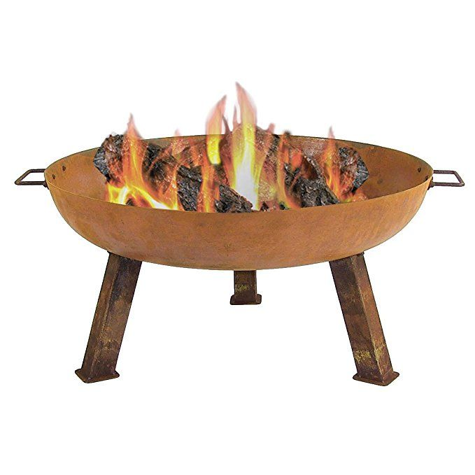 Sunnydaze Outdoor Small Fire Pit Bowl Rustic Cast Iron Wood Burning 30 Inch For Patio Backyard Or Camping Fire Pit Bowl Cast Iron Fire Pit Fire Pit
