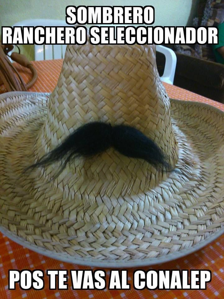 Sombrero ranchero seleccionador.