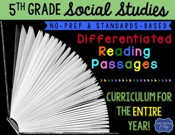 Social Studies Differentiated Reading Passages for Fifth Grade