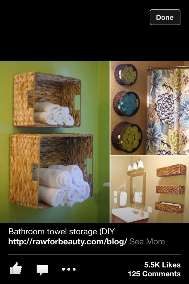 Get organized with baskets, love this! It's very cute.