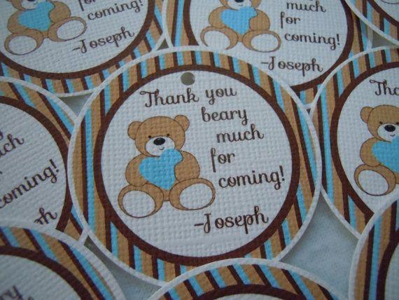 Teddy Bear Party Favor Tags