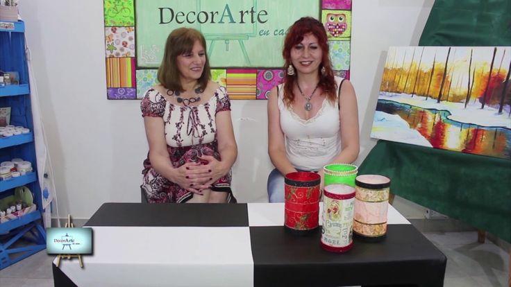 Lindisimos y practicos Fanales con papel artesanal y decoupage!!!