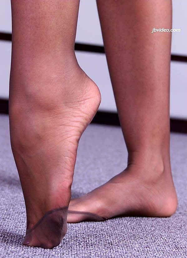 Schwarze Strümpfe Füße Anbetung
