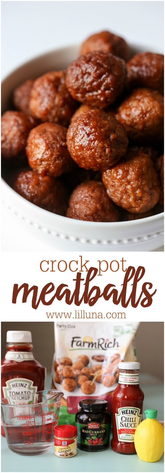 Crock Pot Meatballs - one of the easiest and tastiest meatball recipes you'll ever try! They're perfect for parties too!