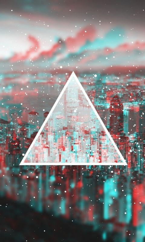 Download Wallpaper 480x800 Triangle, Light, Blurred HTC, Samsung Galaxy S2/2, Ace 480x800 HD Background