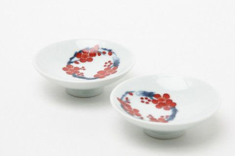 Sake set  Choshi Sake Kettle and Sakazuki Sake Cups, Sho Chiku Bai