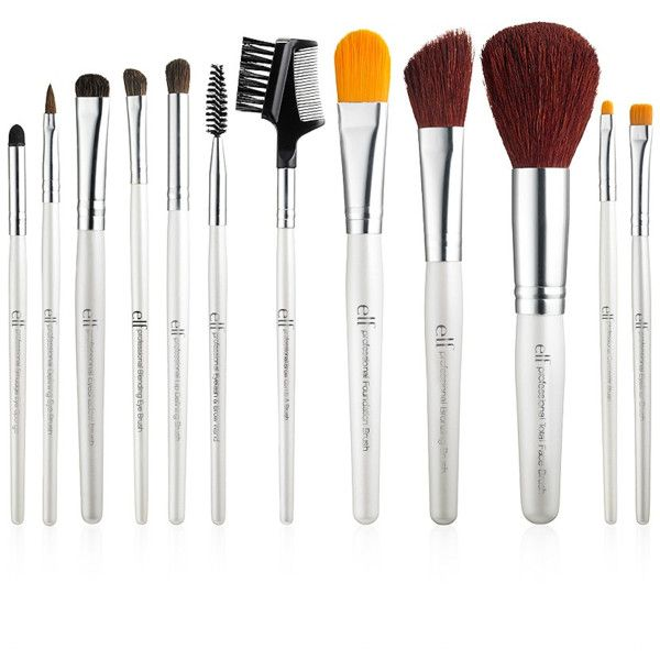 Professional Complete Set of 12 Brushes (16 AUD) ❤ liked on Polyvore featuring beauty products, makeup, makeup tools and makeup brushes
