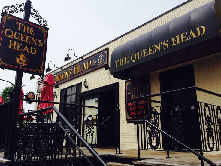 It's tough to miss the Queen's Head pub in Burlington, Ontario.