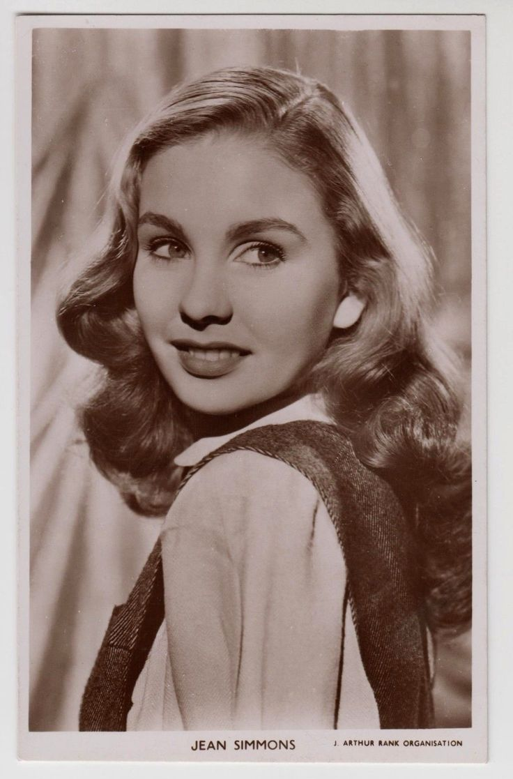 Postcard Picturegoer W244 Jean Simmons Movie Film Cinema Actress RP | eBay