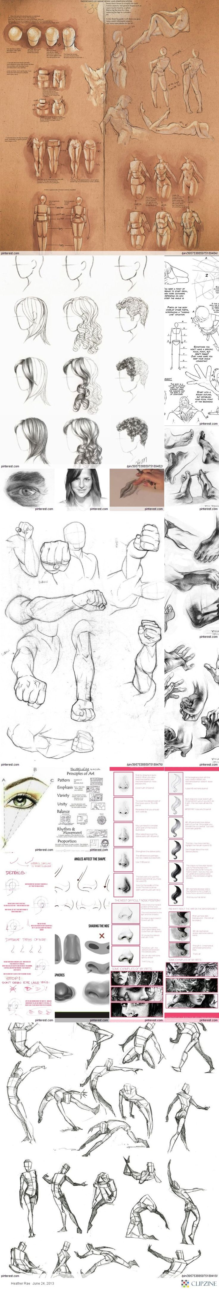DIY Drawing Tutorials join us http://pinterest.com/koztar/ - I haven't drawn in such a long time...