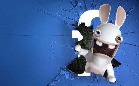 Sur Facebook, les Lapins Crétins font enfin dans le social - Orange le collectif #facebook #videogame