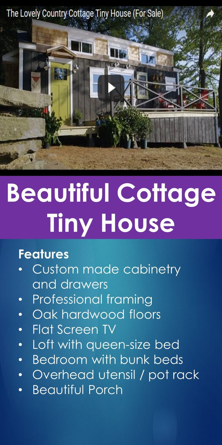 Tiny House Tour: Beautiful Cottage Tiny House   In This Guide, You Will Learn The Following; Small House Plans Under 1000 Sq Ft, Small House Plans Under 500 Sq Ft, Small House Plans Free, Tiny House Designs, Tiny House Plans, Unique Small House Plans, Tiny House Interior, Small Houses, Etc.