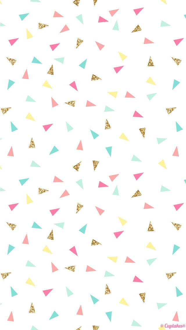 Pink mint turquoise gold mini triangle confetti iphone - Turquoise wallpaper pinterest ...