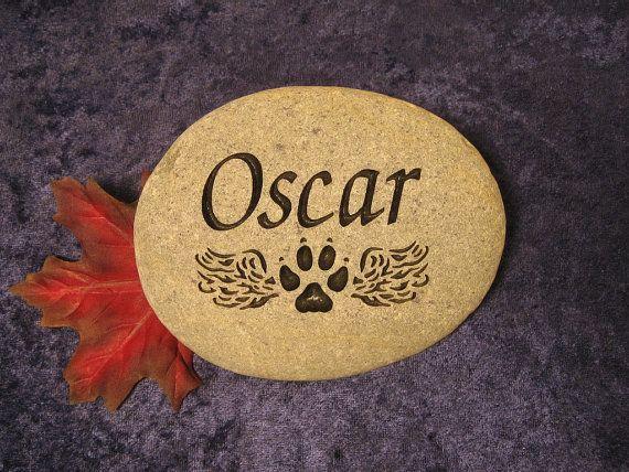 "Engraved Pet Memorials/Grave Markers/Stones/Gifts/Pet Headstones/Pet Grave Stones, Personalized-Small apx. 4""-5"""