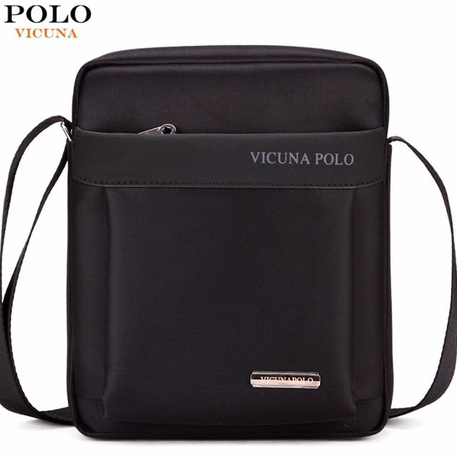 Great Deal $12.99, Buy VICUNA POLO Durable Oxford Mens Crossbody Bag Promotion Casual Mens Shoulder Bags Black/Brown Leisure Brand Man Bag For iPad