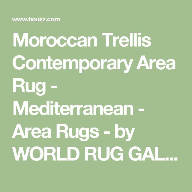 Moroccan Trellis Contemporary Area Rug - Mediterranean - Area Rugs - by WORLD RUG GALLERY