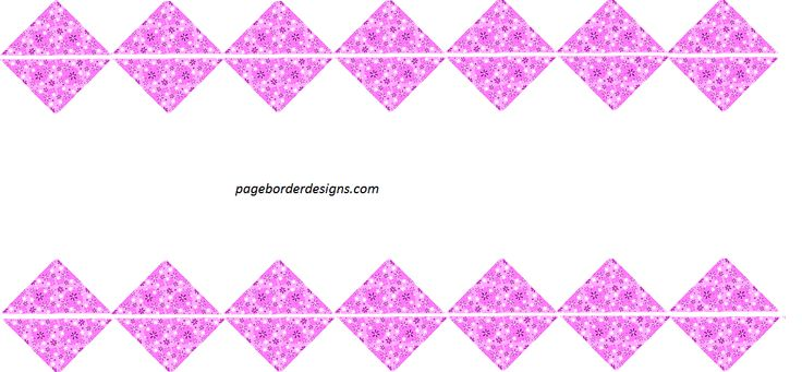 Beautiful Tiki Pink Corner Border Designs for Cards 2016