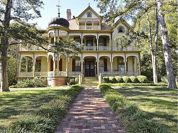 Fabulous restored Queen Anne Victorian estate, Rosemont, built in 1894 situated on approximately 3.5 acres of gorgeous grounds, including a pecan orchard. On both the National and Texas Historical registers, the home is an architectural gem with tremendous drive-up featuring wraparound porches and balconies. #zillow