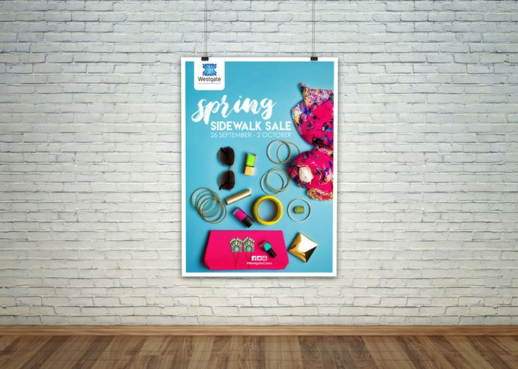 http://www.creativecollective.co.za      Events | Activations | Entertainment | Promoters | Design | Kids | Rental | Gifting | Shopping Centre  Event Poster for Spring Sidewalk Sale at Westgate Super Regional Shopping Centre