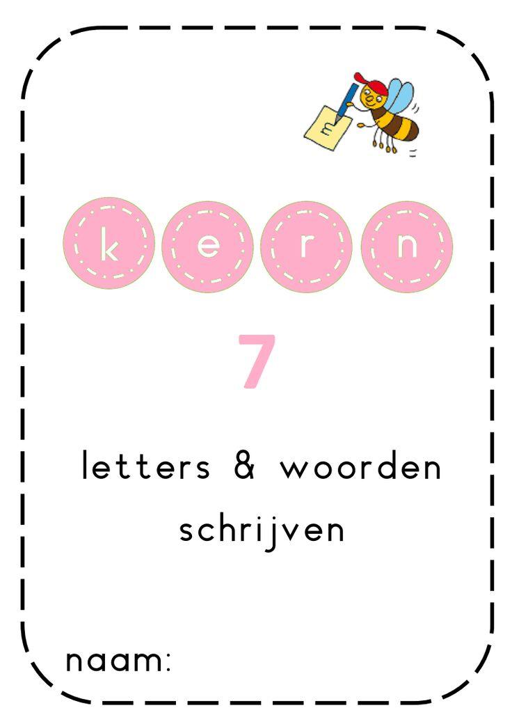Letters en woorden schrijven kern 7