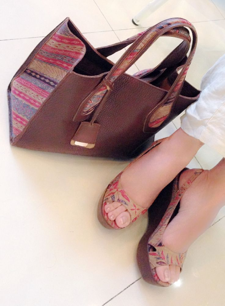 with NYIUR Tote Bag & MAUMERE Wedges by PRibuMI...®