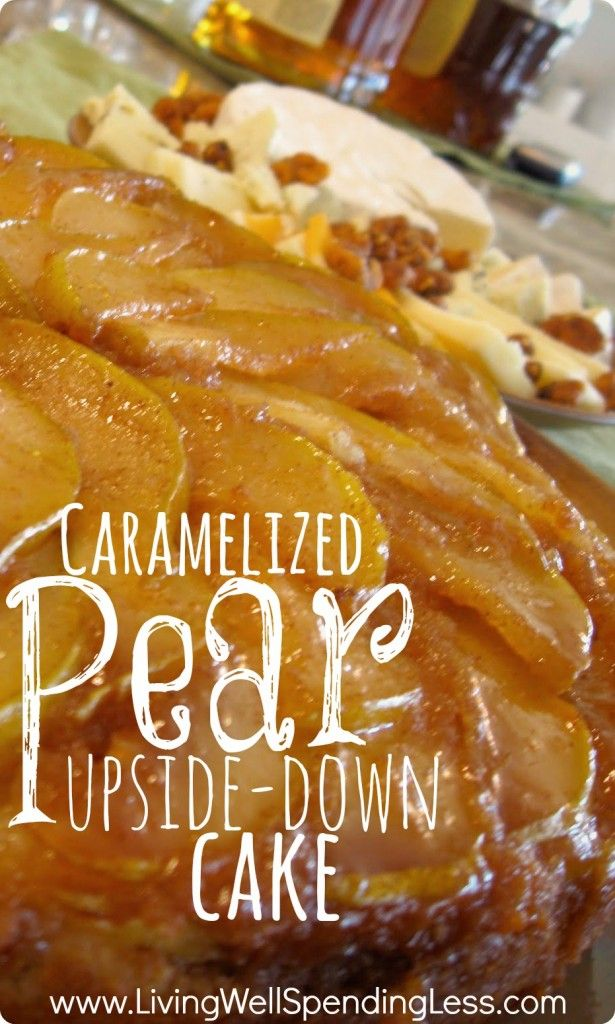 Caramelized Pear Upside Down Cake. Cornmeal adds the perfect rustic texture to balance out the delicate sweetness of the pears. Truly divine!