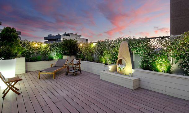 Decoraci n exterior preparada para disfrutar de la - Decoracion exteriores terrazas ...