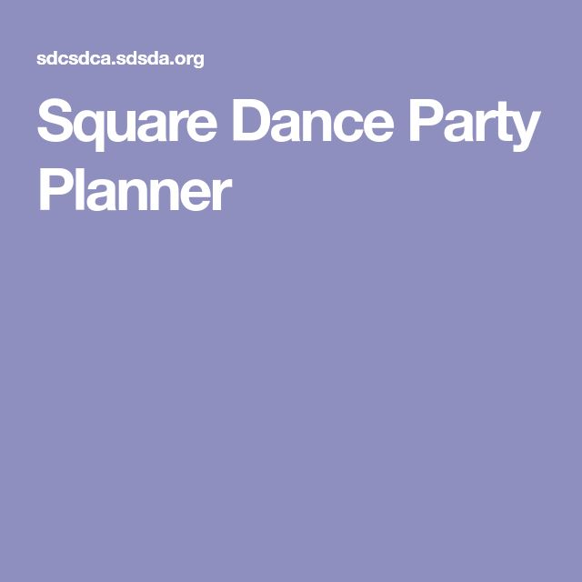 Square Dance Party Planner