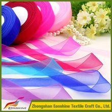 2016 Wholesale Beautiful Webbing 2cm Organza Ribbon